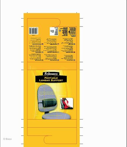 Portable Lumbar Support Black