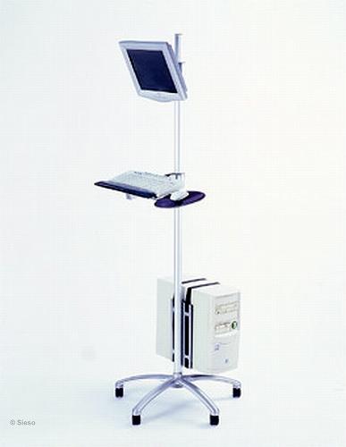 Mobiele werkplek voor LCD, toetsenbord, muis & PC - 180 cm