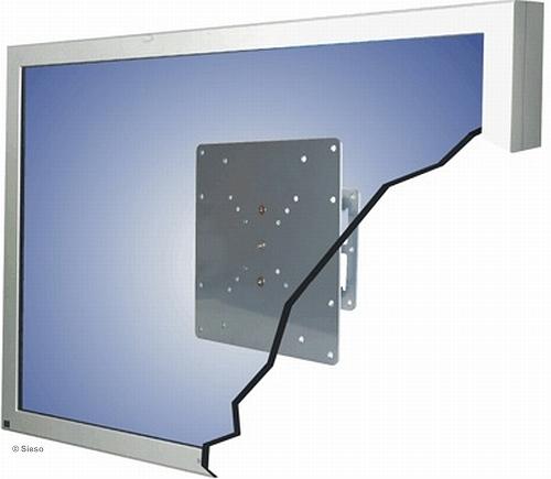 LCD TV/Monitor muurbevestiging - 20º  kantelbaar (25 kg) Zilver