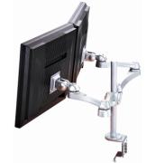 LCD Monitorarm, bureau clamp, Alu highend, 2 screens.