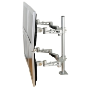 LCD Monitor Arm (deskclamp) - 5 adjustmenst - length 500mm - 4 screens