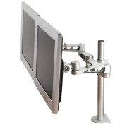 LCD Monitor Arm (deskclamp) - 5 adjustements - length 500mm - 2 screens
