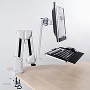 Flatscreenarm + Keyboard & Mouseholder