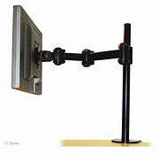 LCD monitor arm (desk clamp) - 5 adjustments - length 434 mm - Black