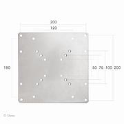 Vesa verloopplaat van VESA 75 & 100 - 100x200, 120x180 & 200, 10-36