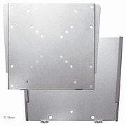 LCD TV/Monitor vlakke muurbevestiging - 17mm (max 35 kg) - Zilver